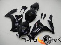 2012-2016 Honda CBR1000RR Glossy Black Injection ABS Plastic Fairings Bodywork