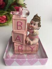 Baby Shower Birthday Baby Girl Cake Topper Decoration Figurine Girl Gift