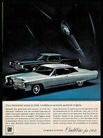 1968 CADILLAC Fleetwood Eldorado and Coupe deVille Classic Car Photo AD
