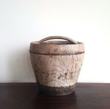 Bucket, antique/vintage, restored, large, SE Asia, decorative, storage, decor
