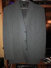 Liz Claiborne Mens Dark Grey Suit. 42R 33/30 . W/Garment Bag. Free Shipping.