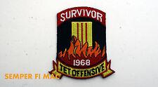 1968 TET OFFENSIVE SURVIVOR VIETNAM HAT PATCH US NAVY ARMY MARINES PIN UP USAF