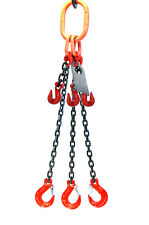 "5/16"" 6 Foot Grade 80 Tosa Triple Leg Lifting Chain Sling - Sling Hook Adjuster"