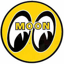 "5"" MOON LOGO STICKER VW BUGGY DECAL RAT HOT ROD DRAG RACING NHRA  VINTAGE DM009"