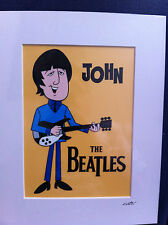 The Beatles - John Lennon - Hand Drawn & Hand Painted Cel