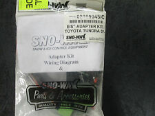 Sno-Way 99100945 EIS ADAPTER KIT TOYOTA TUNDRA 07-