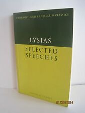 Lysias: Selected Speeches Edited by C. Carey