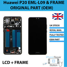 GENUINE HUAWEI P20 EML-L09 LCD SCREEN DISPLAY TOUCH DIGITISER WITH FRAME HOUSING