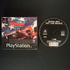 NEWMAN HAAS RACING PlayStation UK PAL English・♔・BLOCKBUSTER RENTAL complete PS1