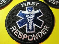 FIRST RESPONDER MEDIC PATCH STAR OF LIFE BLACK TACTICAL PATCH 3 IN. CIRCLE LOOK!
