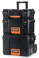 Rolling Portable Tool Storage Cart Organizer Stack 3 Box Mobile Combo Wheeled