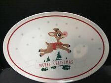 Pottery Barn Kids Christmas Serving PLATTER Rudolph Reindeer Holiday Santa Plate