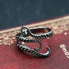 Men Titanium Steel Gothic Punk Octopus Biker Finger Rings Jewelry summer