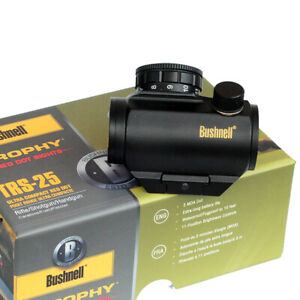 Gold Bushnell Trophy TRS-25 Red Dot Sight HD Rifle Scope NEW IN BOX Mattle Black