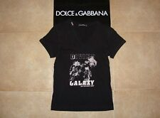 Dolce&Gabbana Black Label GALAXY MAN ODYSSEY 2007 V-neck T-shirt 44 IT (S) 340€