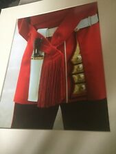 Superb Helen Yates Large Colour Photograph Of British Army Irish Guards Uniform