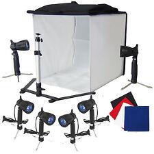 DynaSun PB5XL 60cm Cube Lumière Softbox Tente Trépied 6x Lampes 4x Fond
