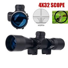 UUQ Hunting Tactical 4X32 Compact .223 .308 Scope Ring Mount Rangefinder Reticle