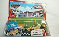 DISNEY PIXAR WORLD OF CARS LAUNCH AND RACE PIT RACE OFF FIBER FUEL # 56 DIECAST