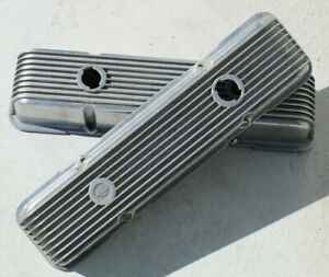 Vintage CAL CUSTOM Valve Covers CHEVY 59-86 sbc V8 Hot Rod muscle car old gasser