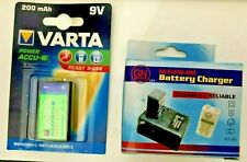 Varta 9V NiMH Rechargeable Battery and Battery Charger 9 volt