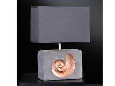Lampe de table Shell chevet Feinbeton avec Décor Carré Abat-jour Honsel 53891
