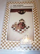 TEDDY BEAR QUILTING APPLIQUE CRAFT Pattern fabric sewing project WEARABLE ART