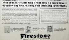 Original 1964 Firestone Tire  Ad Photo Endorsedby  Ray Pittenger of Ashland Ohio