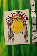Have an Irie Day Dreadlock Jamaican Style Reggae Ska Peace Vintage Decal Sticker