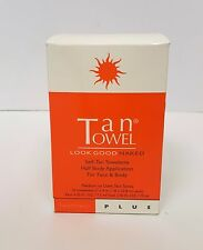 NEW Tan Towel Half Body Towelettes, PLUS  (Pack of 10)