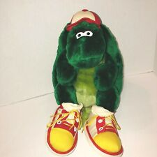 "Vintage 12"" Snappy Turtle Plush RUSS Stuffed Animal Cap Sneakers Shoes"