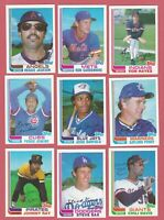 1982 TOPPS TRADED BASEBALL -U Pick A PLAYER CHOICE - STARS AND ROOKIES LOT CARDS