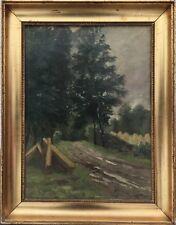 ELIAS PETERSEN (1859-1950) ÖLGEMÄLDE VON 1894 - AM WALDRAND - 48 X 37 CM