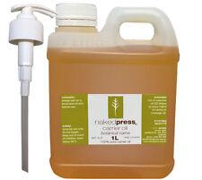 MACADAMIA OIL - COLD PRESSED VIRGIN (AUS) - 100% PURE - 1L + PUMP PACK