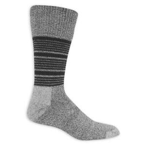 Dr. Scholl's Lifestyle Advanced Men's Crew Socks Gry/Blk 2-PR New XL 13-15