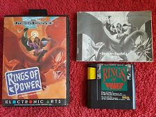 SEGA MEGA DRIVE RINGS OF POWER TESTED WORKS GR8 RARE