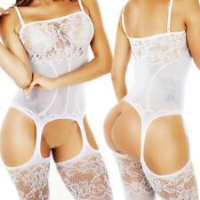 Women Sleepwear Bodysuit Stocking Lingerie Babydoll Bodystocking Chemise XS-4XL