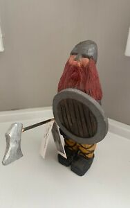 """Jake Jacobson Hand Carved Scandanavian Nordic Viking Woodcarving Figure 7"""" Tall"""