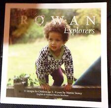 Rowan Exploreres Kindermodelle in Englisch und Deutsch Strickanleitungen ZB218