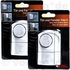 2 Stück Tür- & Fenster-Alarm Sicherheitstechnik Magnetsensor Sirene Alarmanlage