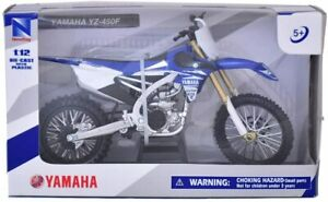 New- Ray Yamaha~YZ 450F Moto Cross  Die Cast Blue and White #57703