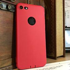 Apple Iphone 7 estuche resistente al impacto Micro Escudo Parachoques Flexible de Silicona Rojo