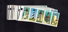 UNfolded booklet pane of 5  #2470-74  Lighthouses 2474a