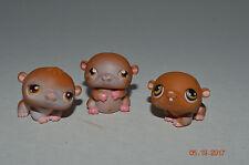 Littlest Pet Shop~#34~#35~#36~Happy Hamster~Petriplets~Brown White~Brown Eyes