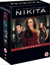 NIKITA 1-4 (2010-2014): COMPLETE - Maggie Q - TV Seasons Series -  R2 DVD not US