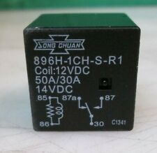 Song Chuan 896H-1CH-S-R1 Automotive Relay Quick Connect 12VDC 50AMP NEW