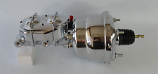 "7"" STREET ROD DUAL POWER BRAKE BOOSTER W/ DUAL BOWL TOP MASTER CYLINDER CHROME"