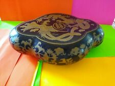 Vintage Antique Laquered? Wood Oriental Box