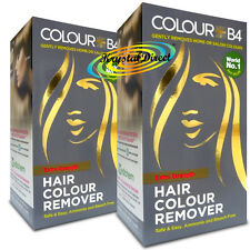 2x Colour B4 ColourB4 Unisex Hair Colour Remover EXTRA Remove Dye Bleach Free