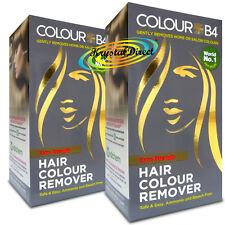 2x Colour B4 ColourB4 Unisex Hair Colour Remover EXTRA Remove Dye Bleach Free